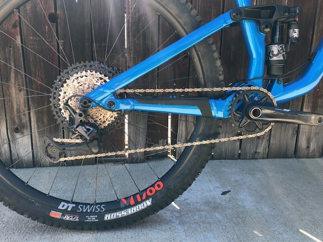 Component view of Norco Sight Medium Blue Demo Mountain Bike